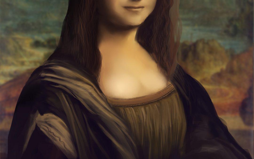 Monalisa Leonardo da Vinci digital painting
